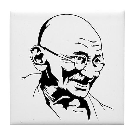 Strk3 Gandhi Tile Coaster