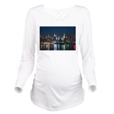 New York skyline Long Sleeve Maternity T-Shirt