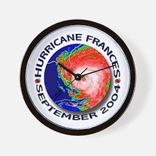 Hurricane Frances Satellite 2 Wall Clock