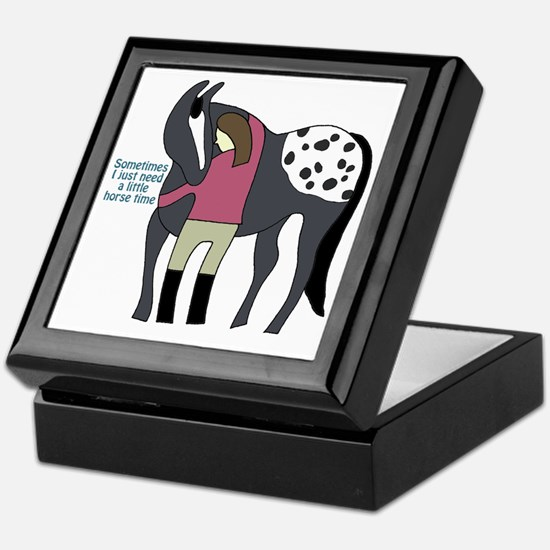 I Need Horse Time - appaloosa Keepsake Box
