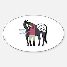 I Need Horse Time - appaloosa Sticker (Oval)