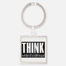Think sign Square Keychain