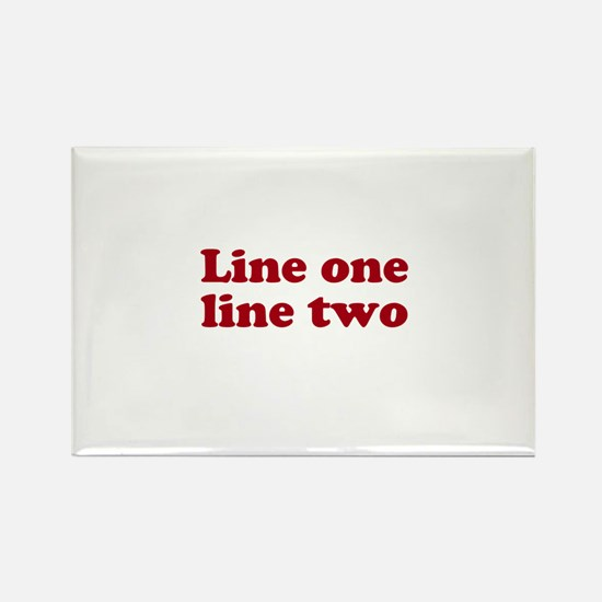 Two Line Custom Message in Dark Red Magnets