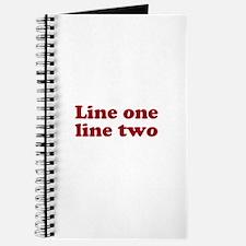 Two Line Custom Message in Dark Red Journal