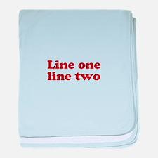 Two Line Custom Message in Dark Red baby blanket