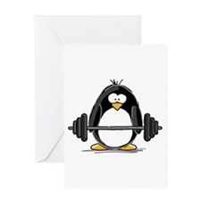 weight lifting Greeting Cards