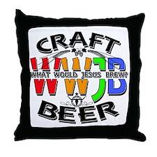 WWJB-What Would Jesus Brew? Throw Pillow