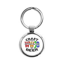 WWJB-What Would Jesus Brew? Round Keychain