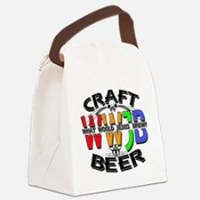 WWJB-What Would Jesus Brew? Canvas Lunch Bag