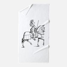Knight in Armor Beach Towel