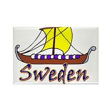 Viking Boat Sweden-1 Magnets