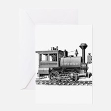 Vintage Steam Locomotive Greeting Card