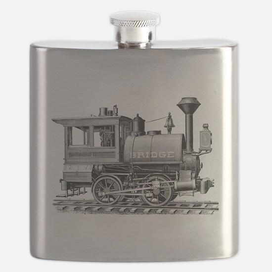 Vintage Steam Locomotive Flask