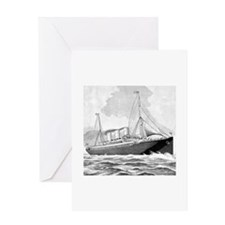 Vintage Steamship Greeting Card