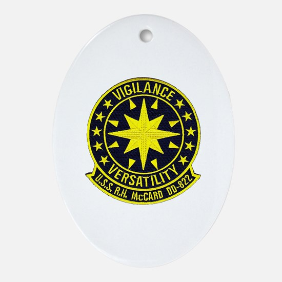uss robert h. mccard patch Oval Ornament
