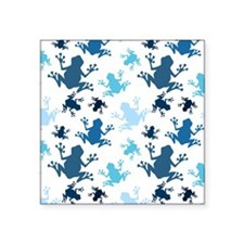 Frog Pattern; Navy, White, Sky, Baby Blue Frogs St