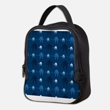 Dark and Light Blue Ice Hockey Neoprene Lunch Bag