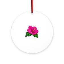 Cute Hibiscus Round Ornament