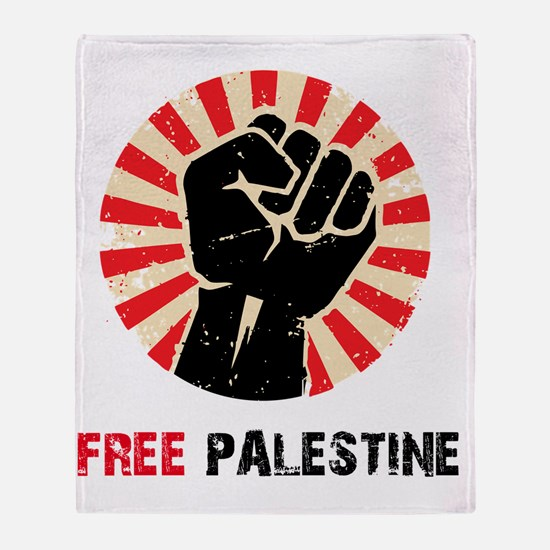 Free Palestine Throw Blanket