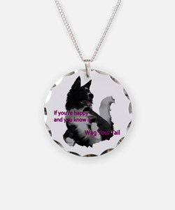 Border collie Wag your tail Necklace