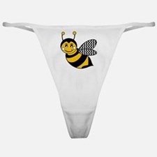 Cute Chevron Winged Bumble Bee Classic Thong
