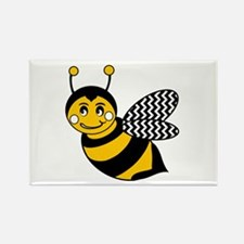 Cute Chevron Winged Bumble Bee Magnets