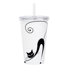 Unique Vintage halloween Acrylic Double-wall Tumbler