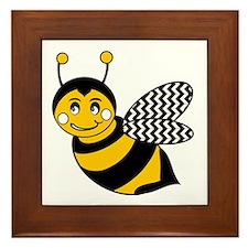 Unique Bumble bee Framed Tile