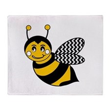 Cute Bumble bee Throw Blanket