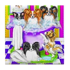 Tub Fulla Papillon BG Tile Coaster