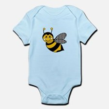 Cute Chevron Winged Bumble Bee Body Suit