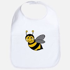 Cute Bee cartoon Bib