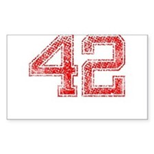 42, Red, Vintage Decal