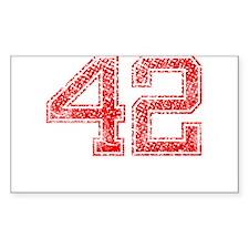 42, Red, Vintage Decal