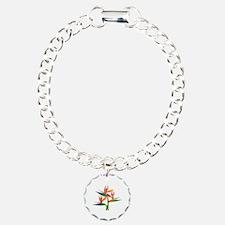 Funny Flower Charm Bracelet, One Charm