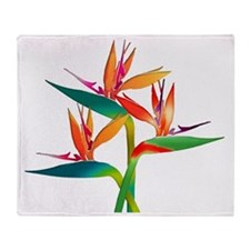 Cute Birds of paradise Throw Blanket
