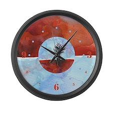 In Limbo - Cinnabar Large Wall Clock
