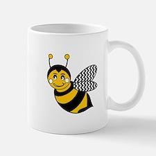 Cute Chevron Winged Bumble Bee Mugs