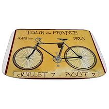 Tour De France, Bicycle, Vintage Poster Bathmat