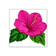Pink Hibiscus Flower Sticker