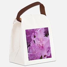 Purple Rhododendron Bush  Canvas Lunch Bag