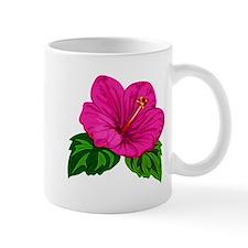 Pink Hibiscus Flower Mugs