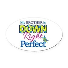 Brother_Down_Rt_Perfect Oval Car Magnet