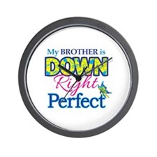 Brother_Down_Rt_Perfect Wall Clock