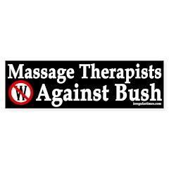 Massage Therapists Against Bush (sticker)