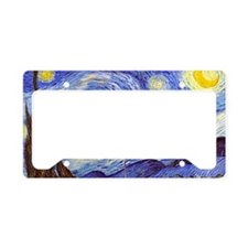 Cute Van gogh starry night License Plate Holder