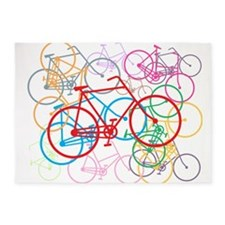 Graphic Bikes 5'x7'area Rug
