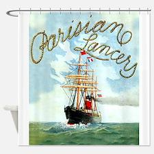 Parisian Tall Ship Shower Curtain