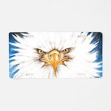 Bald Eagle Gaze Aluminum License Plate