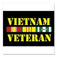 "Funny Military Square Car Magnet 3"" x 3"""